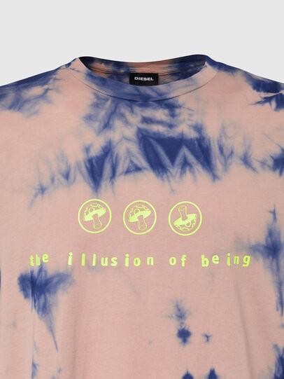 Diesel - T-JUST-SLITS-X86, Rosa/Blau - T-Shirts - Image 3