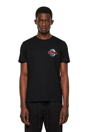 Green Label T-Shirt mit Print auf der Brust