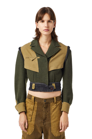 Green Label kurze Military-Jacke