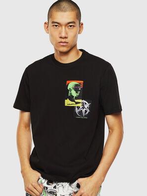 T-JUST-SLITS-J18, Schwarz - T-Shirts