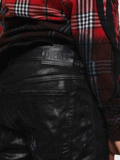 Diesel - Sleenker 0091F, Schwarz/Dunkelgrau - Jeans - Image 5