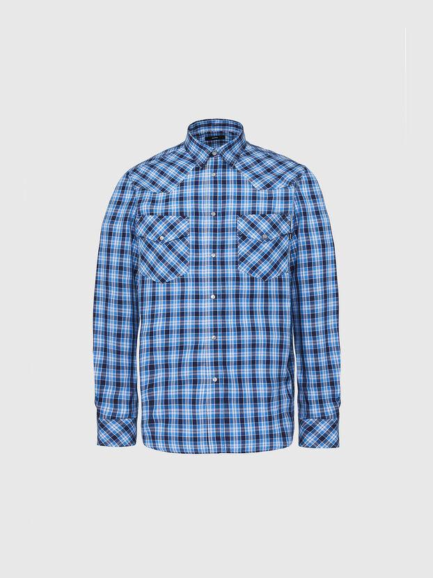 S-EAST-LONG-O, Blau/Weiss - Hemden
