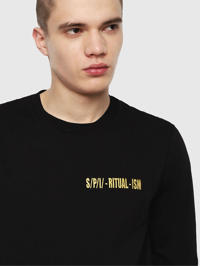 Diesel - T-YOSHIMI, Schwarz/Gelb - T-Shirts - Image 3