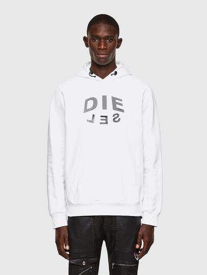 Diesel - S-GIRKEL-HOOD-A60, Weiß - Sweatshirts - Image 1