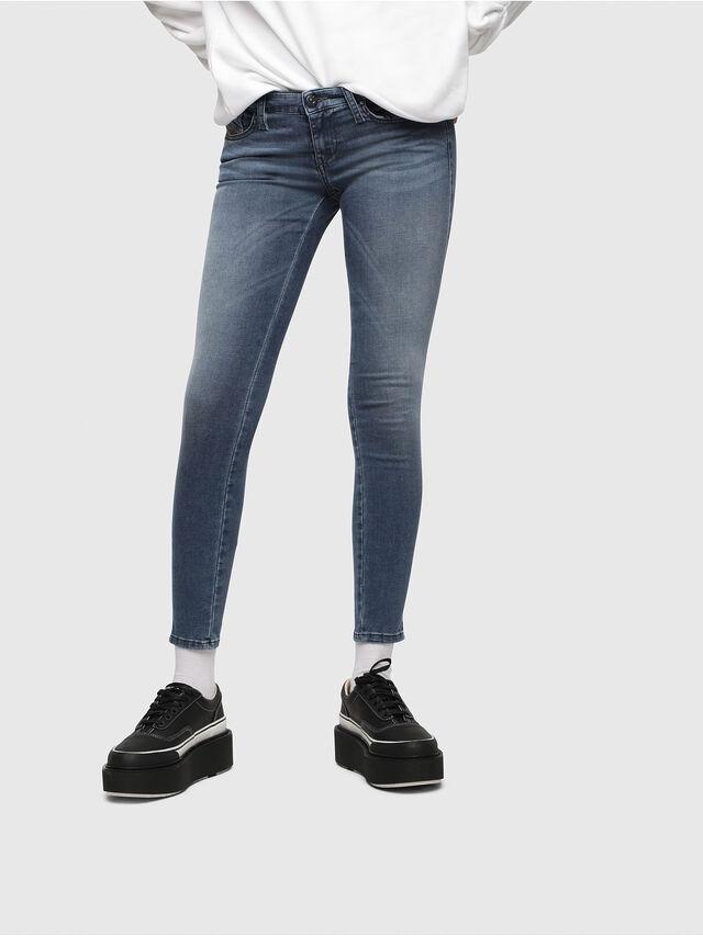 Diesel Skinzee Low Zip 0681P, Mittelblau - Jeans - Image 1