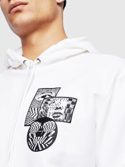 Diesel - S-GIRK-HOOD-S4, Weiß - Sweatshirts - Image 5
