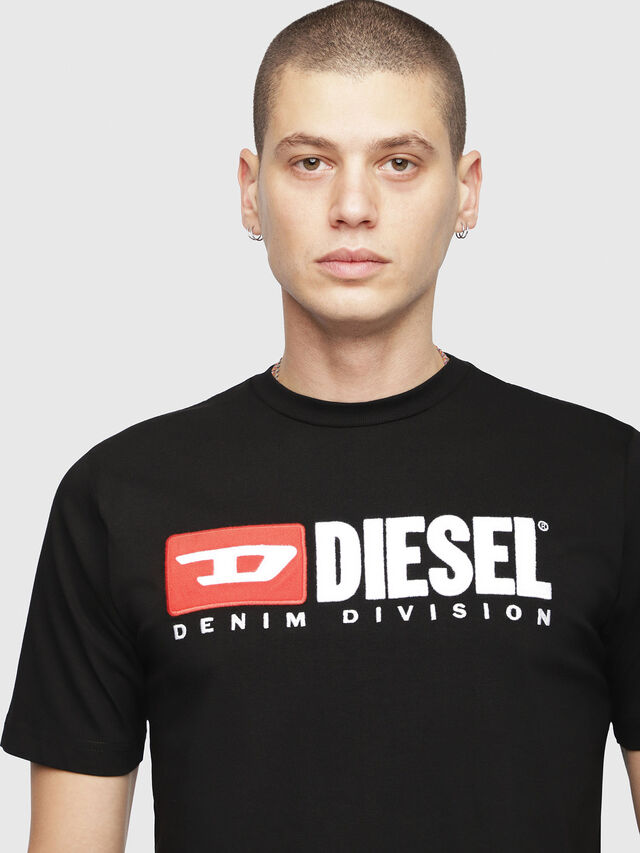 Diesel - T-JUST-DIVISION, Schwarz - T-Shirts - Image 3