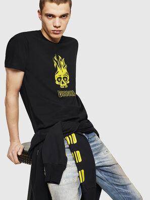 T-DIEGO-A11, Schwarz/Gelb - T-Shirts
