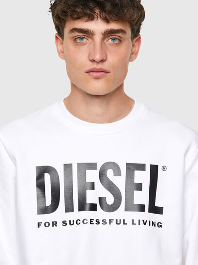 Diesel - S-GIRK-ECOLOGO, Weiß - Sweatshirts - Image 3