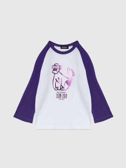 Diesel - TBALYB-FL-R, Weiss/Violett - T-Shirts und Tops - Image 1
