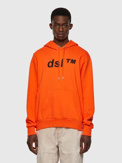 Diesel - S-GIRK-HOOD-B4, Orange - Sweatshirts - Image 1
