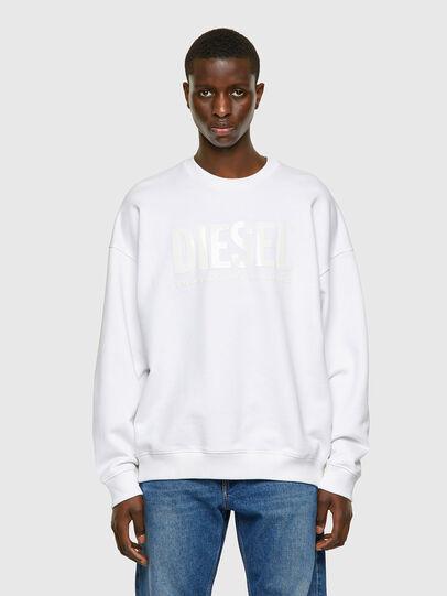 Diesel - S-MART-INLOGO, Weiß - Sweatshirts - Image 1