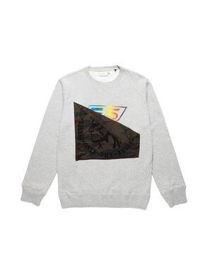 D-HALF&HALF, Grau - Sweatshirts
