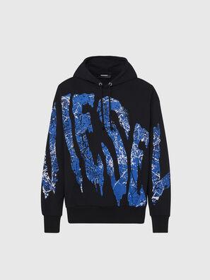 S-ALBY-X3, Schwarz/Blau - Sweatshirts
