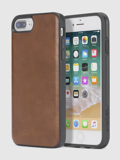 Diesel - BROWN LEATHER IPHONE 8/7/6s/6 CASE, Braunes Leder - Schutzhüllen - Image 1
