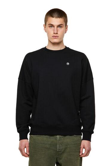 Sweatshirt Green Label mit Mohikaner-Aufnäher
