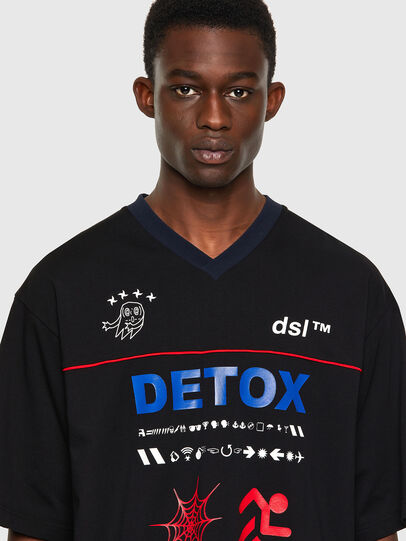 Diesel - T-DELPHIVY-SLITS, Schwarz - T-Shirts - Image 3