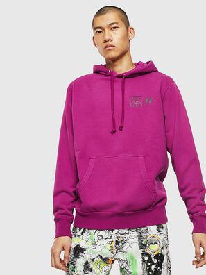 S-GIRK-HOOD-SUN, Lila - Sweatshirts