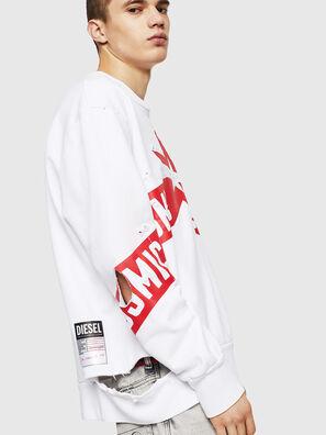 S-BAY-HOLES, Weiß/Rot - Sweatshirts