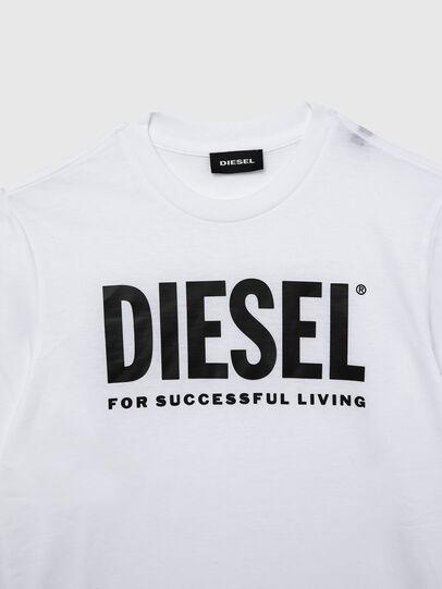 Diesel - TJUSTLOGO ML, Weiß - T-Shirts und Tops - Image 3