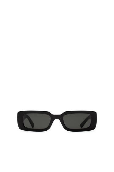 Rechteckige Sonnenbrille mit modernem Design