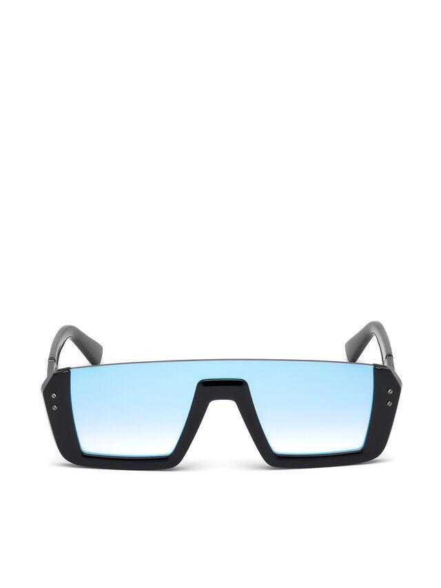 Diesel - DL0248, Brillantschwarz - Sonnenbrille - Image 1