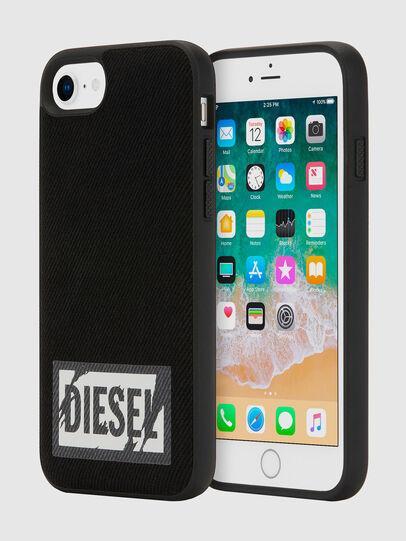 Diesel - BLACK DENIM IPHONE 8/7/6S/6 CASE, Schwarz - Schutzhüllen - Image 1