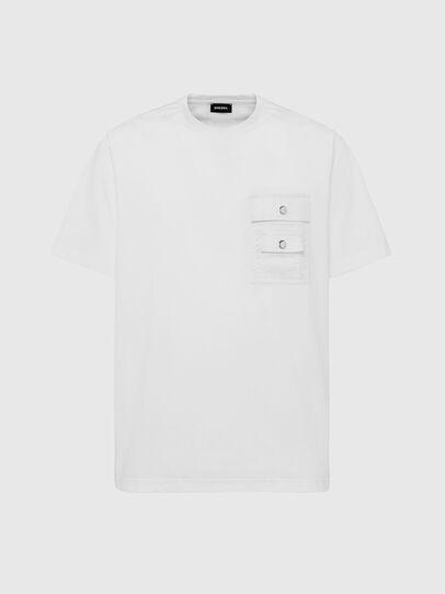 Diesel - T-TASK-SLITS, Weiß - T-Shirts - Image 1