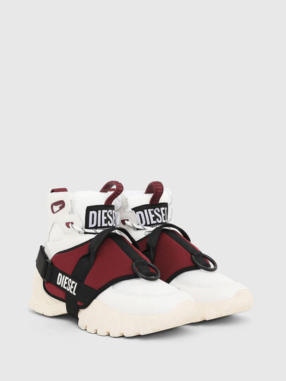 Diesel - S-SHARQUEZ MID, Weiß/Rot - Sneakers - Image 2