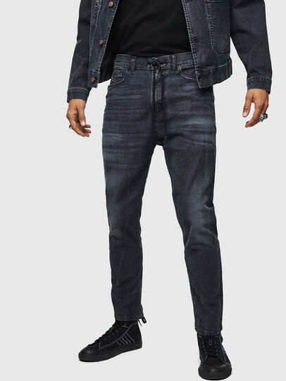 Diesel - D-Vider JoggJeans 0090H, Dunkelblau - Jeans - Image 1