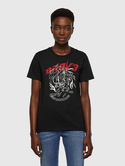 Diesel - T-SILY-B2, Schwarz - T-Shirts - Image 1