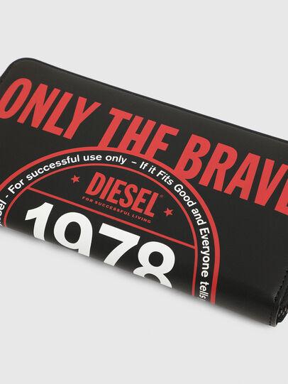 Diesel - 24 ZIP, Schwarz - Portemonnaies Zip-Around - Image 3
