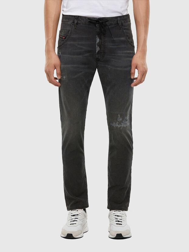 Krooley JoggJeans 009LB, Schwarz/Dunkelgrau - Jeans