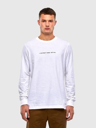 Diesel - T-JUST-LS-X93, Weiß - T-Shirts - Image 1