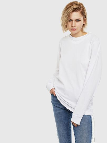 Diesel - T-HUSTY-LS, Weiß - T-Shirts - Image 2