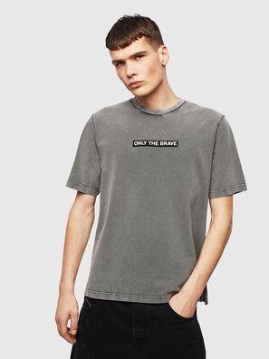 T-JUST-SLITS-T15, Grau - T-Shirts