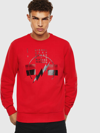 Diesel - S-GIRK-J2, Rot - Sweatshirts - Image 1