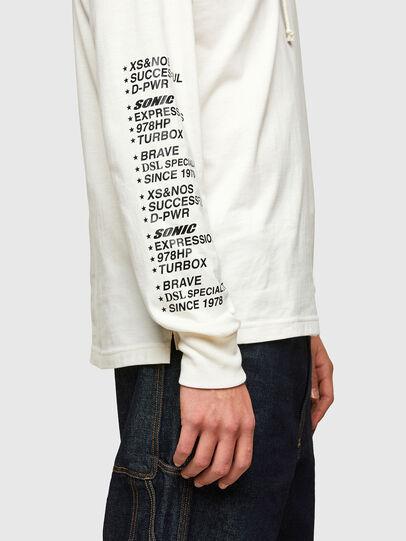 Diesel - T-JUST-LS-HOOD-SLITS, Weiß - T-Shirts - Image 4