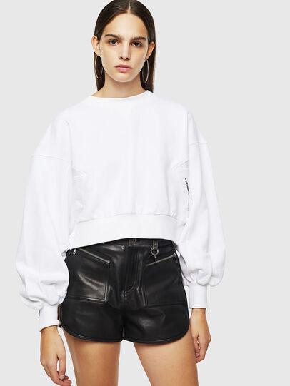 Diesel - F-MONDY, Weiß - Sweatshirts - Image 1