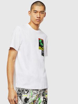 T-JUST-SLITS-J18, Weiß - T-Shirts