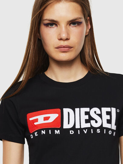 Diesel - T-SILY-DIVISION, Schwarz - T-Shirts - Image 3