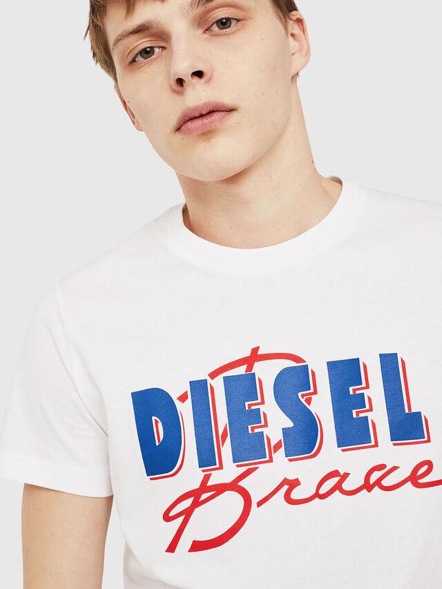 Diesel - T-DIEGO-C2, Weiß/Rot/Blau - T-Shirts - Image 3