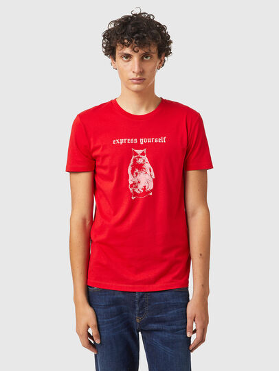 Diesel - T-INY-B2, Rot - T-Shirts - Image 1