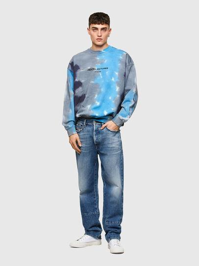 Diesel - S-MART-E4, Grau/Blau - Sweatshirts - Image 4