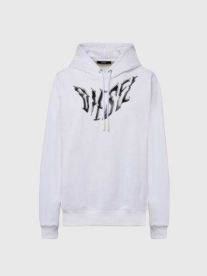 Diesel - F-ANG-HOOD-K21, Weiß - Sweatshirts - Image 1