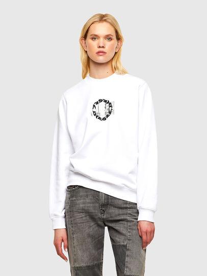 Diesel - F-ANG-R30, Weiß - Sweatshirts - Image 1