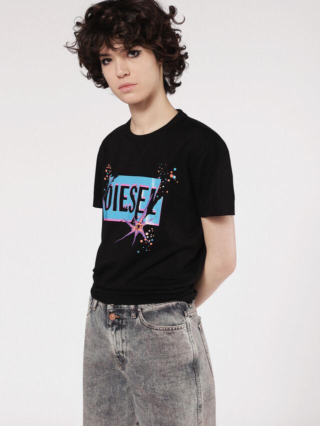 Diesel - T-EXPLO, Schwarz - T-Shirts - Image 1