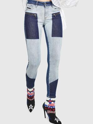 Slandy Zip 0890L, Mittelblau - Jeans