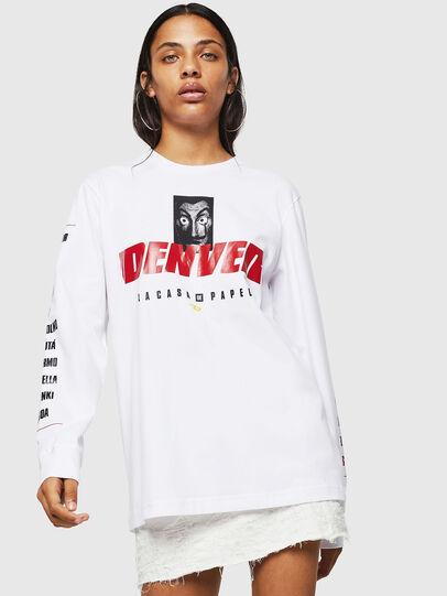 Diesel - LCP-T-JUST-LS-DENVER, Weiß - T-Shirts - Image 2