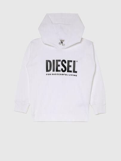 Diesel - SDIVISION-LOGOX OVER, Weiß - Sweatshirts - Image 1